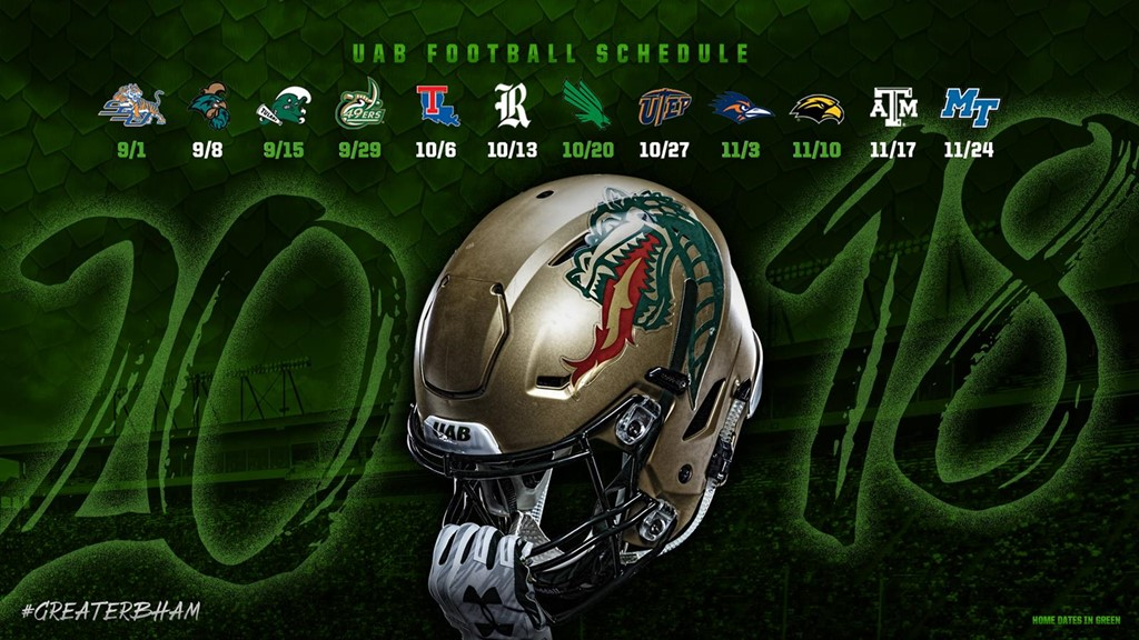 UAB Football Announces Complete 2018 Schedule   University of
