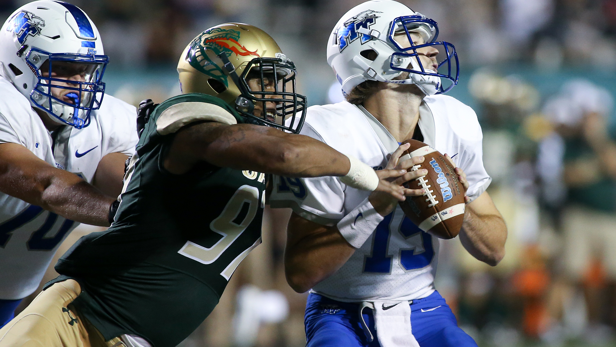 sports shoes 64e15 e7682 UAB Football Concludes Regular Season at Middle Tennessee