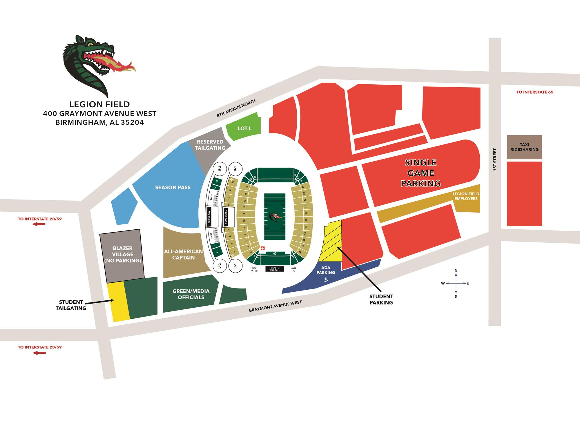 UAB Announces Fan Experience Enhancements for Football Games ... on texas a&m football parking map, university of maryland football parking map, university of tennessee parking lot map, texas a&m parking lot map, dayton parking map, va tech parking map, northern iowa parking map, east carolina parking map, gonzaga parking map, xavier parking map, coastal carolina parking map, app state parking map, illinois state parking map, university of alabama parking map, lincoln memorial stadium parking map, south alabama parking map, west virginia parking map, u of m parking map, towson parking map, murray state parking map,